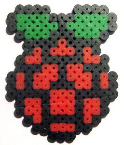 Logo Raspberry Pi hecho con Pyssla