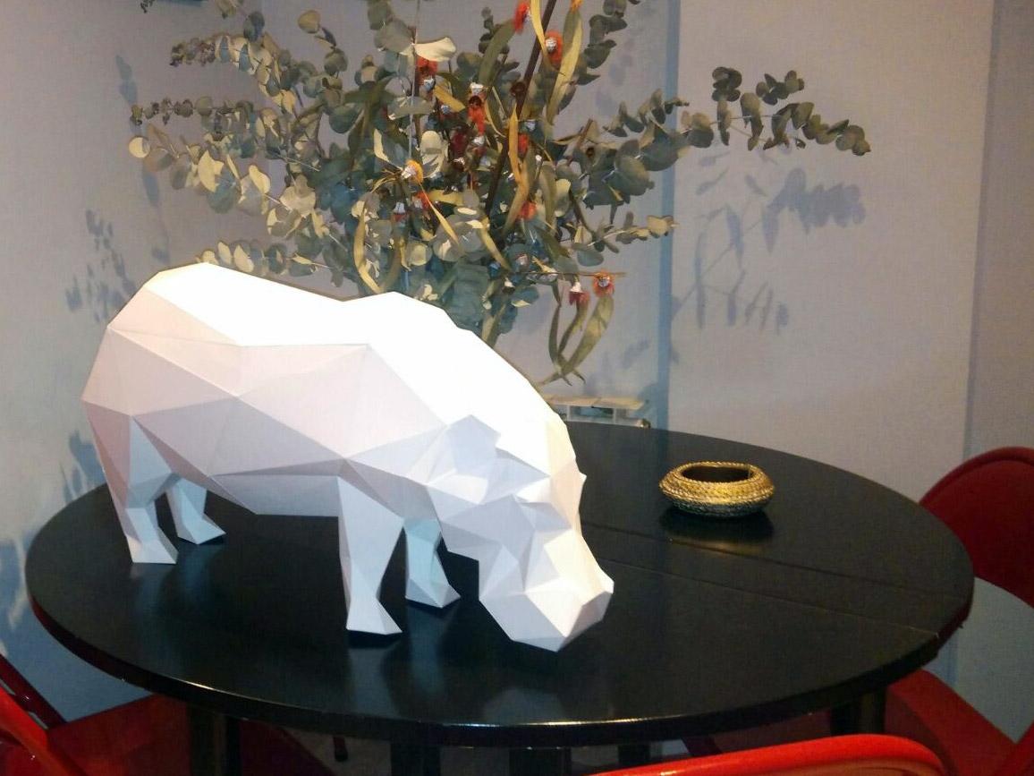 Hipopotamo Low Poly