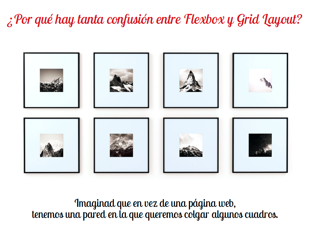 No confundas flexbox con grid layout